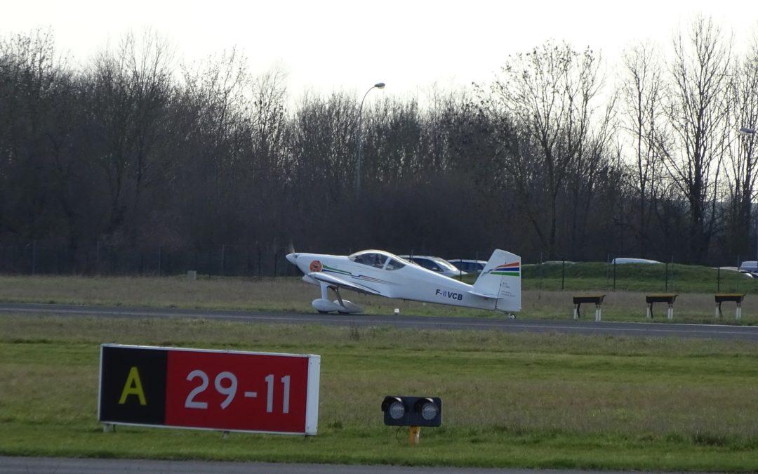 1er vol pour Le RV7 de Christophe…